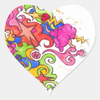 Sticker Cœur Pet de licorne