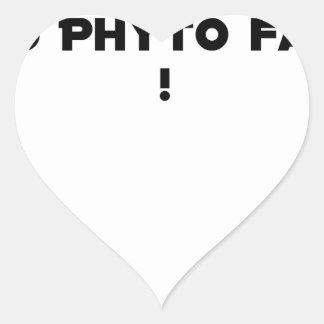 Sticker Cœur PHYTOTHERAPY : AU PHYTO DIT, AU PHYTO FAIT ! - Jeu