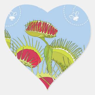 Sticker Cœur piège bleu de mouche