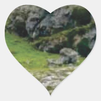 Sticker Cœur pierre verte de merveille