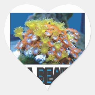 Sticker Cœur pile de beauté de mer