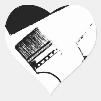 Sticker Cœur pinceaux