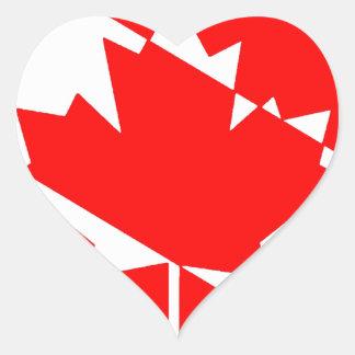 Sticker Cœur Piqué blanc rempli Canada
