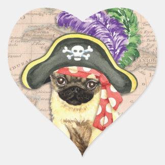 Sticker Cœur Pirate de carlin