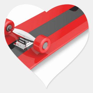 Sticker Cœur Planche à roulettes