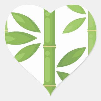Sticker Cœur Plante en bambou