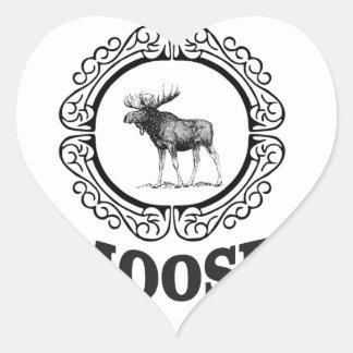 Sticker Cœur plus d'anneau d'orignaux