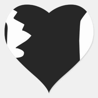 Sticker Cœur Poing augmenté