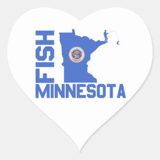 Sticker Cœur Poissons Minnesota