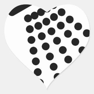 Sticker Cœur Pommeau de douche
