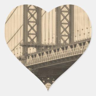 Sticker Cœur Pont de Manhattan