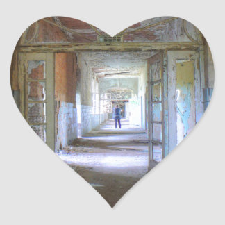 Sticker Cœur Portes et couloirs 03,0, endroits perdus, Beelitz