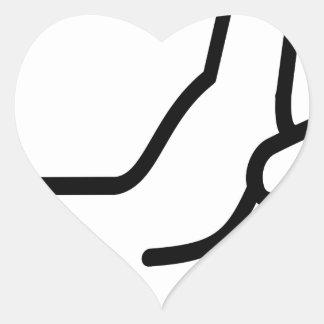 Sticker Cœur Pouces