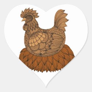 Sticker Cœur Poulet