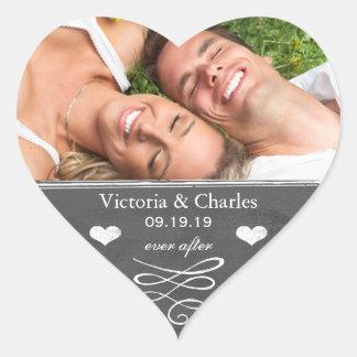 Sticker Cœur Pour toujours économies de mariage de tableau le