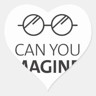 Sticker Cœur Pouvez vous imaginer la chanson anglaise de John