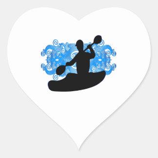 Sticker Cœur Précipitation de kayak