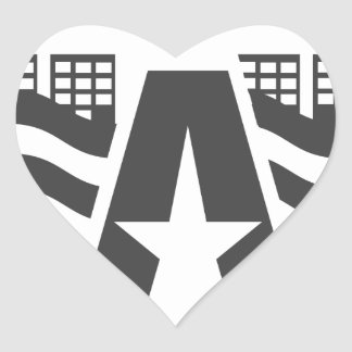 Sticker Cœur Premier nom de lettre - un paysage de ville avec