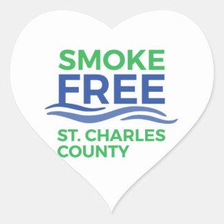 Sticker Cœur Produits sans fumée de STC.