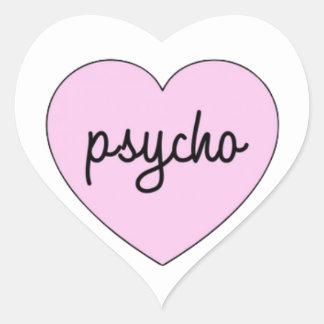 Sticker Cœur Psycho