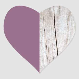 Sticker Cœur Purple + Wood