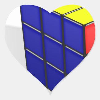 Sticker Cœur Puzzle de cube