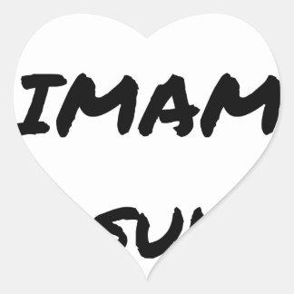 Sticker Cœur QU'IMAM ME SUIVE ! - Jeux de mots - Francois Ville