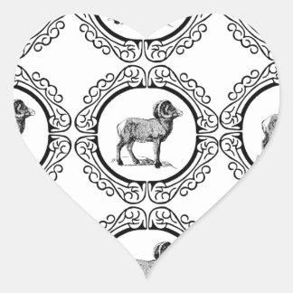 Sticker Cœur RAM dans un rond