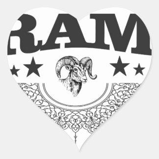 Sticker Cœur RAM de l'étoile noire