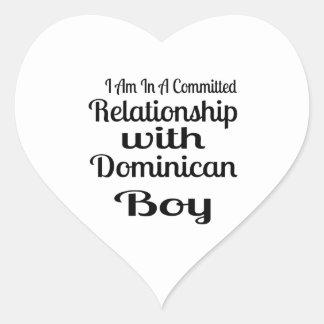 Sticker Cœur Rapport avec le garçon dominicain