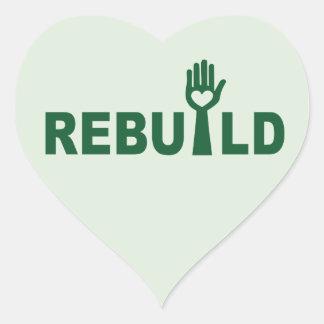 Sticker Cœur Reconstruisez le perdu avec amour