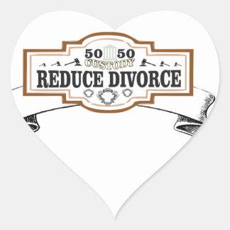 Sticker Cœur réduisez la garde 50 du divorce 50