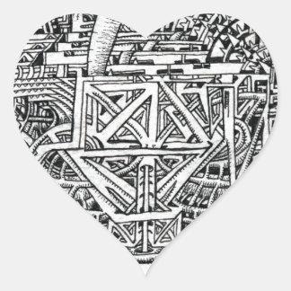 Sticker Cœur Réservoir de tentacule par Brian Benson