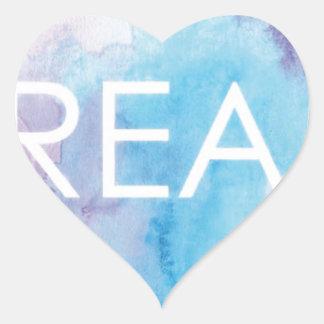 Sticker Cœur Rêve