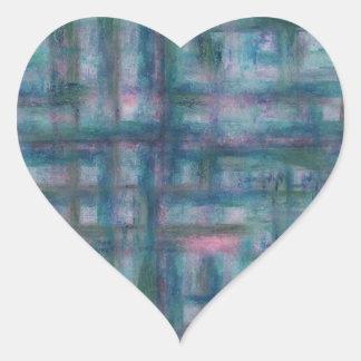 Sticker Cœur Rêves aqueux