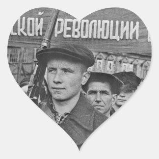 Sticker Cœur Révolution d'octobre