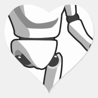 Sticker Cœur Robot futuriste