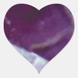 Sticker Cœur roche pourpre de fente