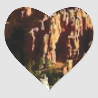 Sticker Cœur roches en jaune de terre