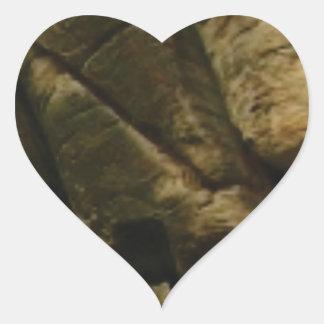 Sticker Cœur roches grises de grondement