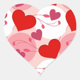 Sticker Cœur Rose Romance de jour de Valentines d'amour de