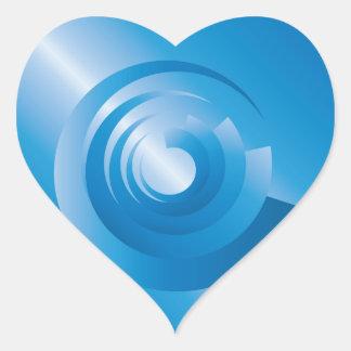 Sticker Cœur rotation de couleurs de ciel