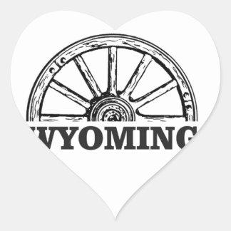 Sticker Cœur roue du Wyoming