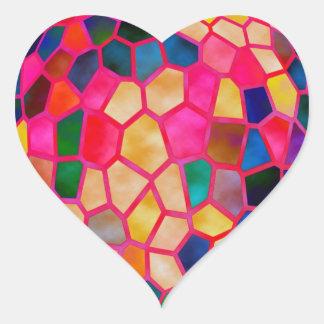 Sticker Cœur Rougeoyer rouge-clair de STBX en cristal