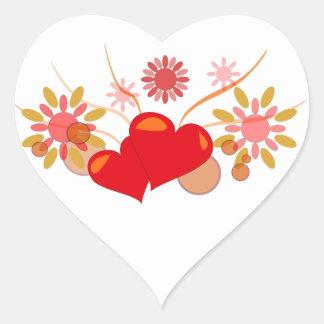 Sticker Cœur saint-valentin