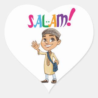 Sticker Cœur SALAM pour garçon