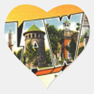 Sticker Cœur Salutations du Delaware