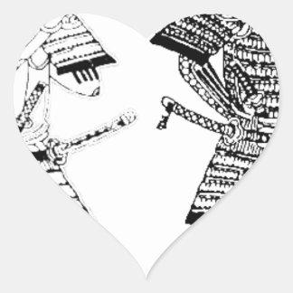 Sticker Cœur Samouraï