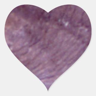 Sticker Cœur schéma pourpres courbe