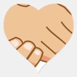 Sticker Cœur Se serrer la main